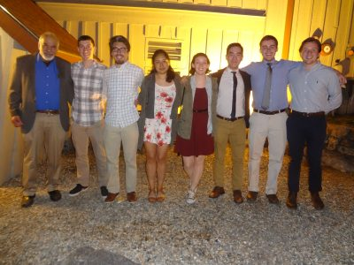 From left to right: Harold Brody, Chapter Advisor, Steven Churchill, Drew Cietek, Claudia Chavez, Keara Frawley, Andrew Nguyen, Michael Gingrave, Carl Rizzo. (Not shown: Matthew Brown, Florencio Topete, Meghan Van Wie)